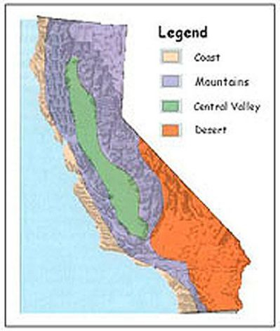 10 Best 4th Grade California Relief Map Images On