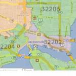 33 Zip Codes Map Jacksonville Fl Maps Database Source