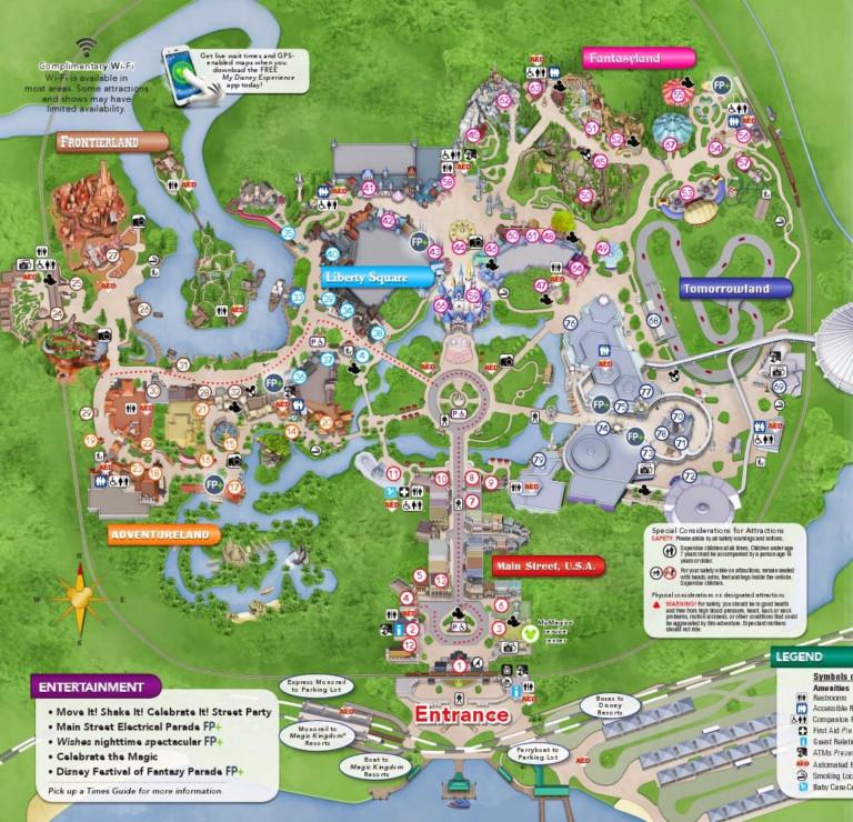 Amazing Printable Maps Of Disney World Derrick Website