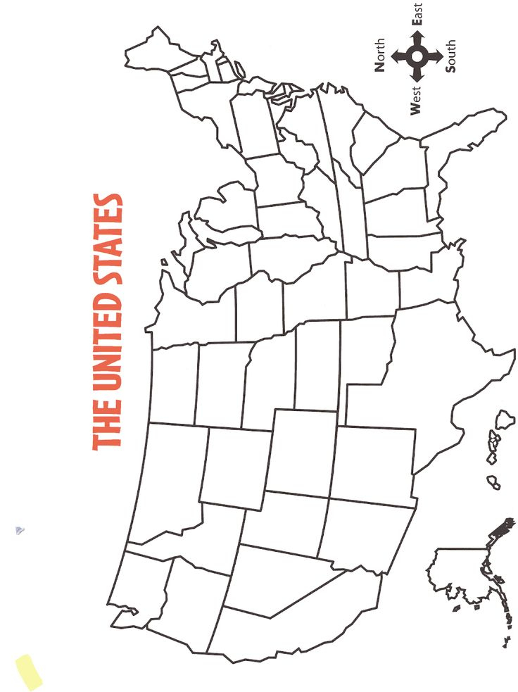 Blank 50 States Mapbmp Map Worksheets United States Map