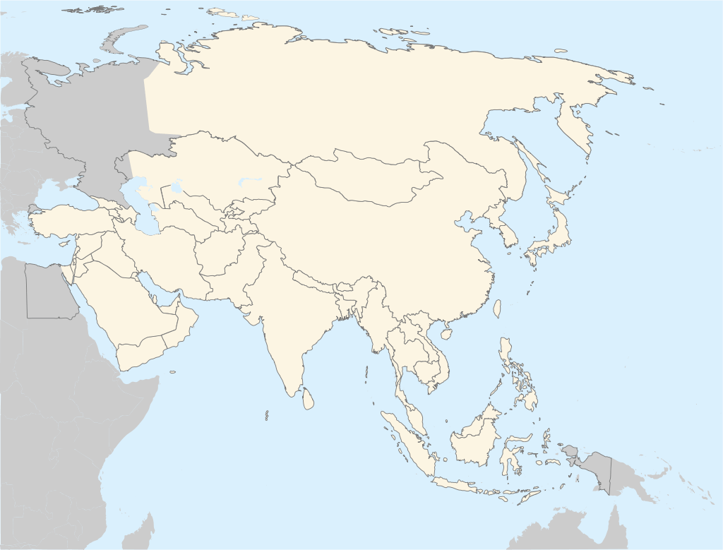 Blank Map Of Asia Printable Science Trends