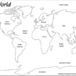 Blank World Map Worksheet Worldwide Maps Collection Free