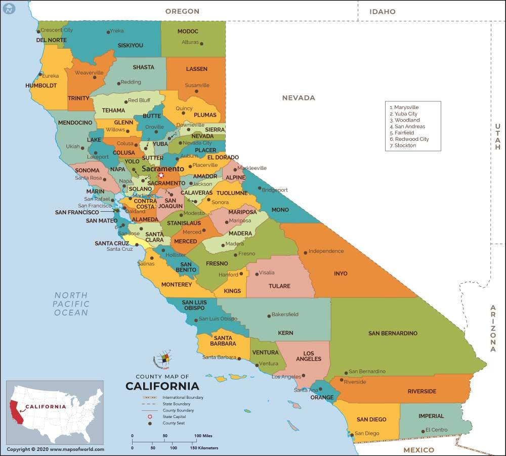 Buy California County Map
