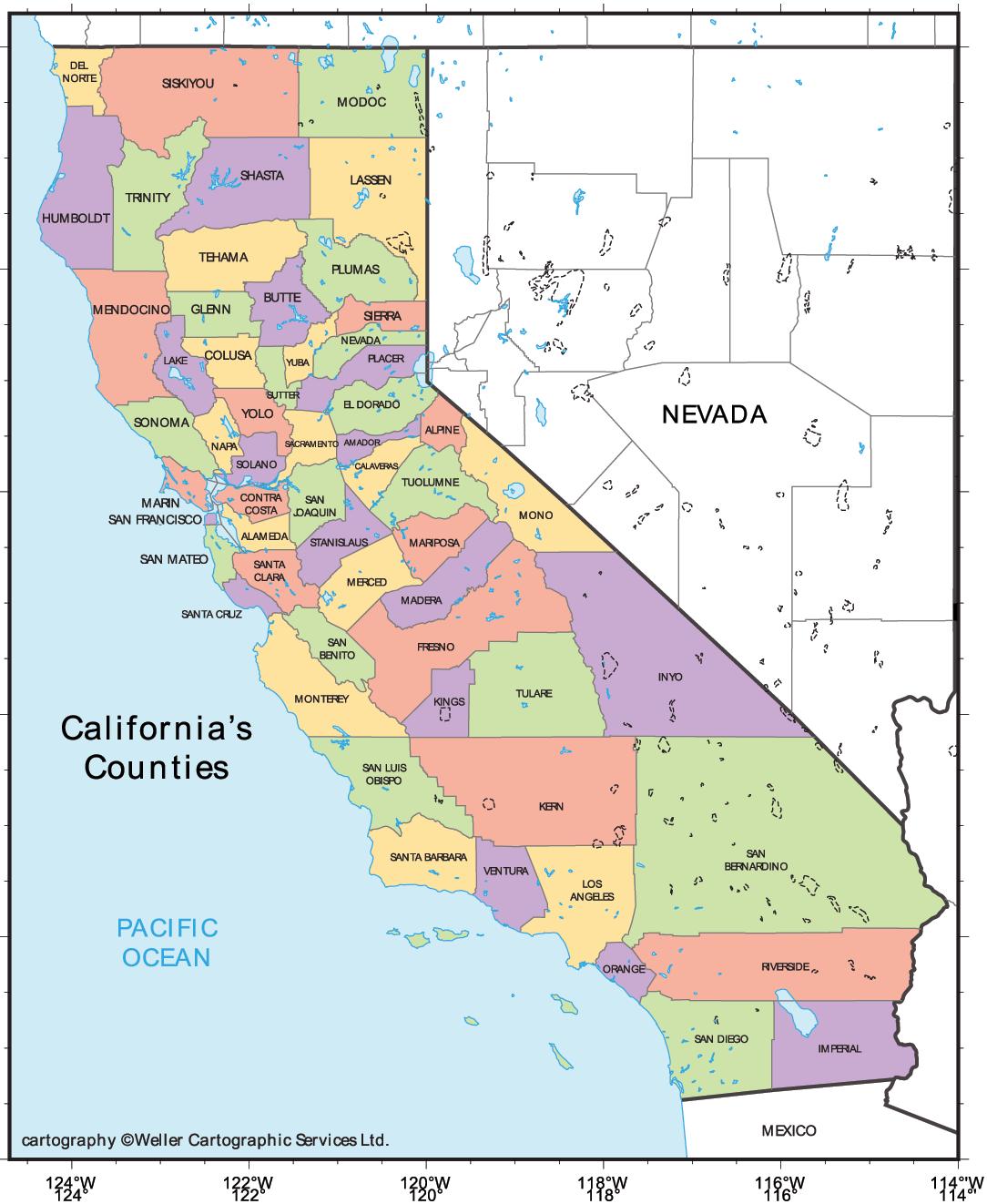 California Cities Map Mapsof