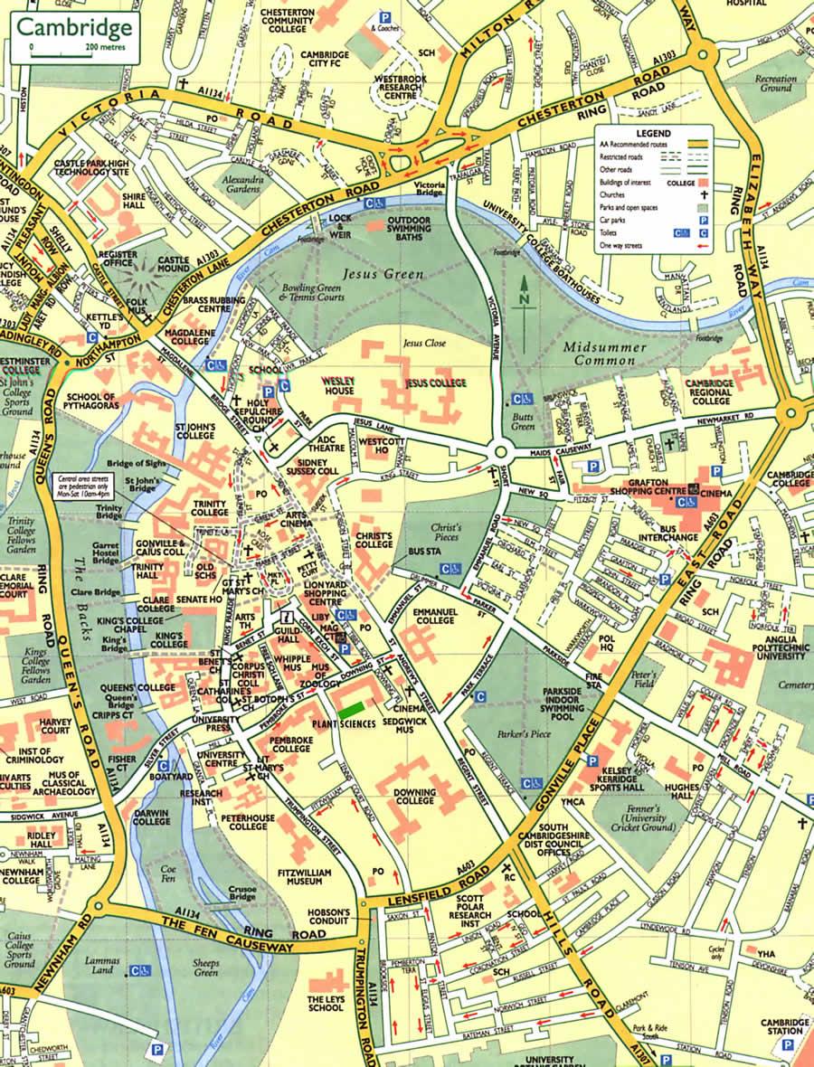 Cambridge Map