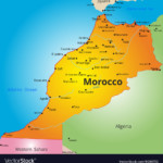 Color Map Of Morocco Country Royalty Free Vector Image