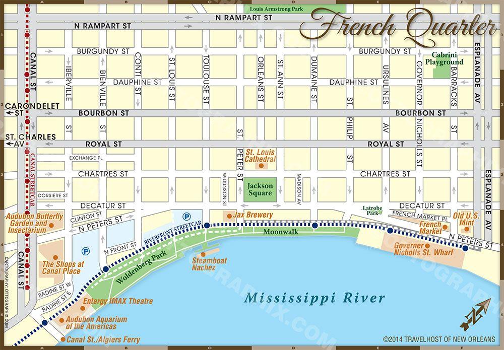 French Quarter Street Map French Quarter Map