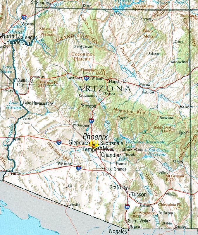 Geography Of Arizona Wikipedia