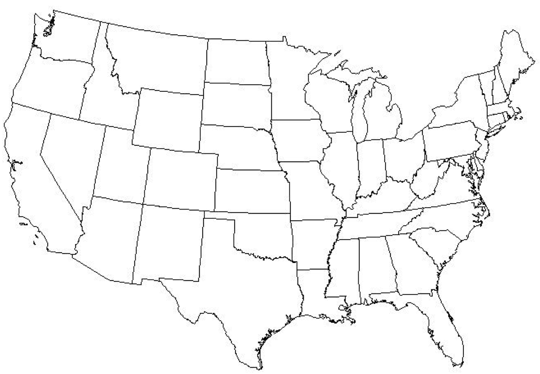 Google Blank Map Of United States
