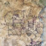 Hogwarts Map Art Print By Sarah Ridings Society6