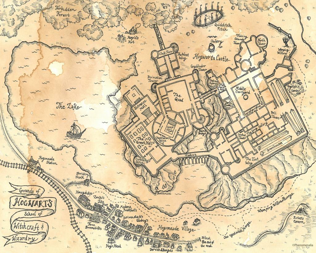 Hogwarts Map Printable Printable Maps