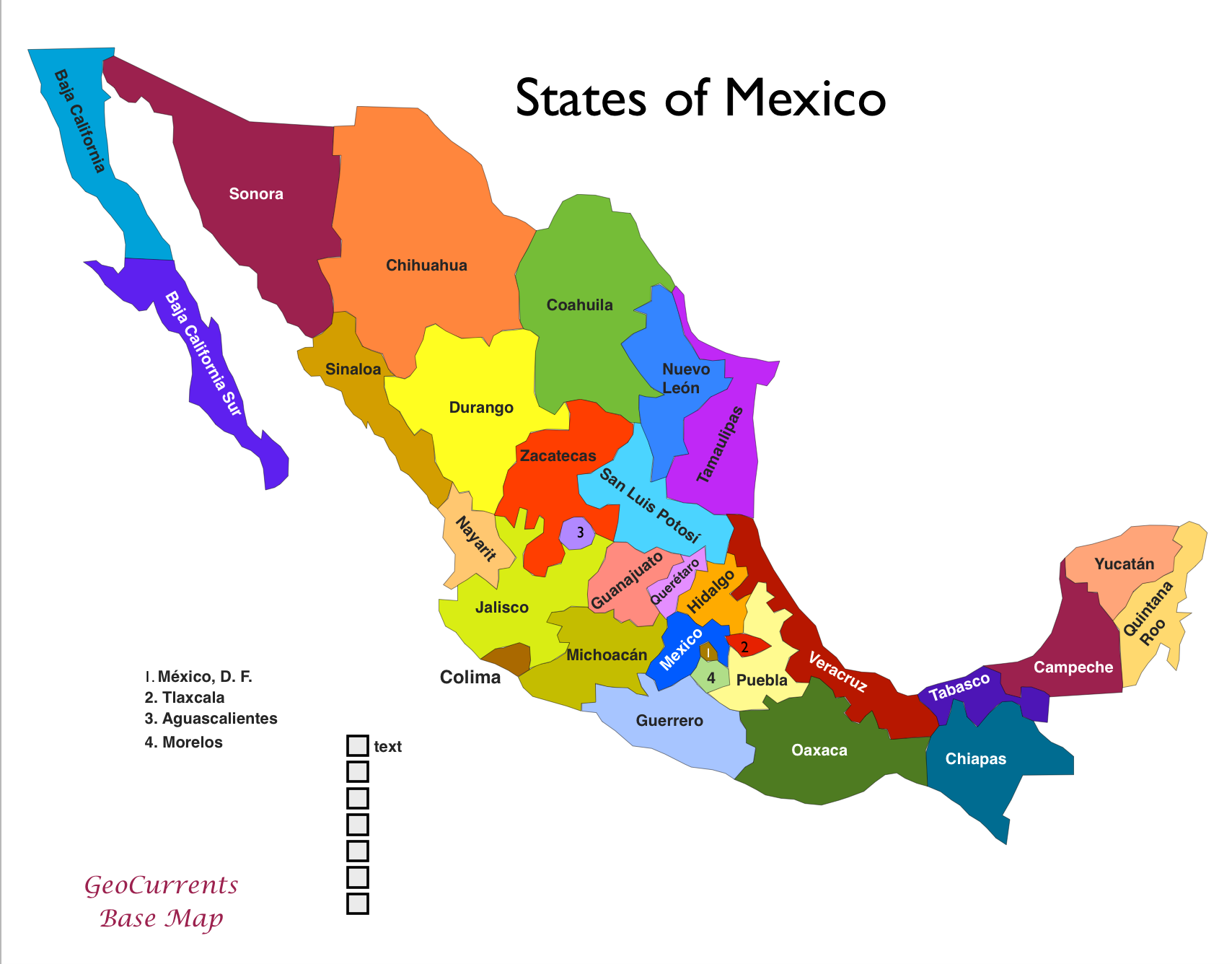 Image Result For Printable Map Showing Mexican States