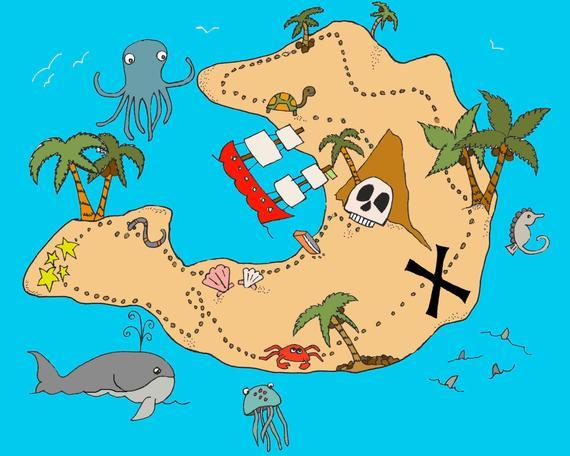 Items Similar To Printable Treasure Map Kids Pirate Child