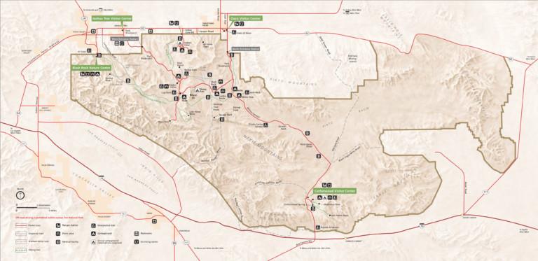 Joshua Tree Maps NPMaps Just Free Maps Period