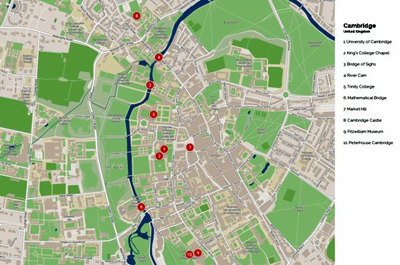 Large Cambridge Maps For Free Download And Print High