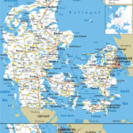 Large Detailed Road Map Of Denmark With All Cities And
