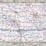 Large Detailed Roads And Highways Map Of North Dakota