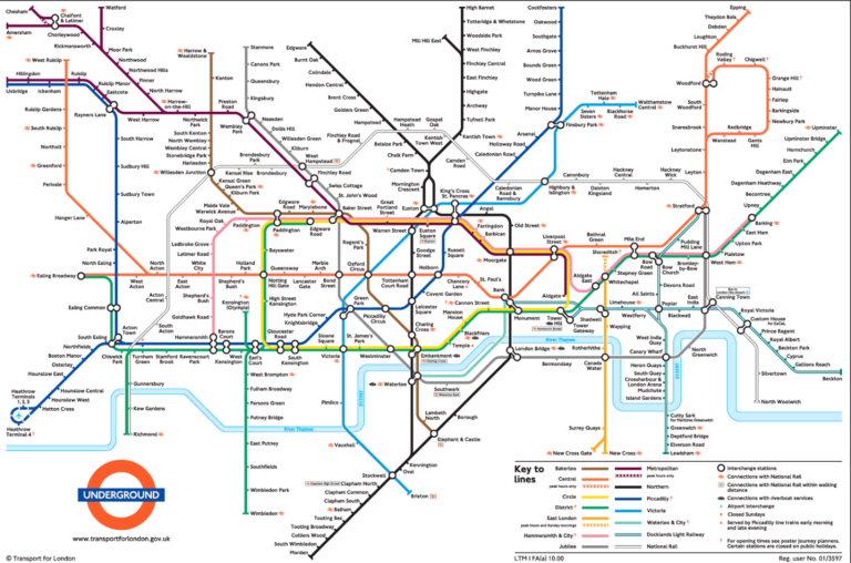 Map Of London Tube Free Printable Maps