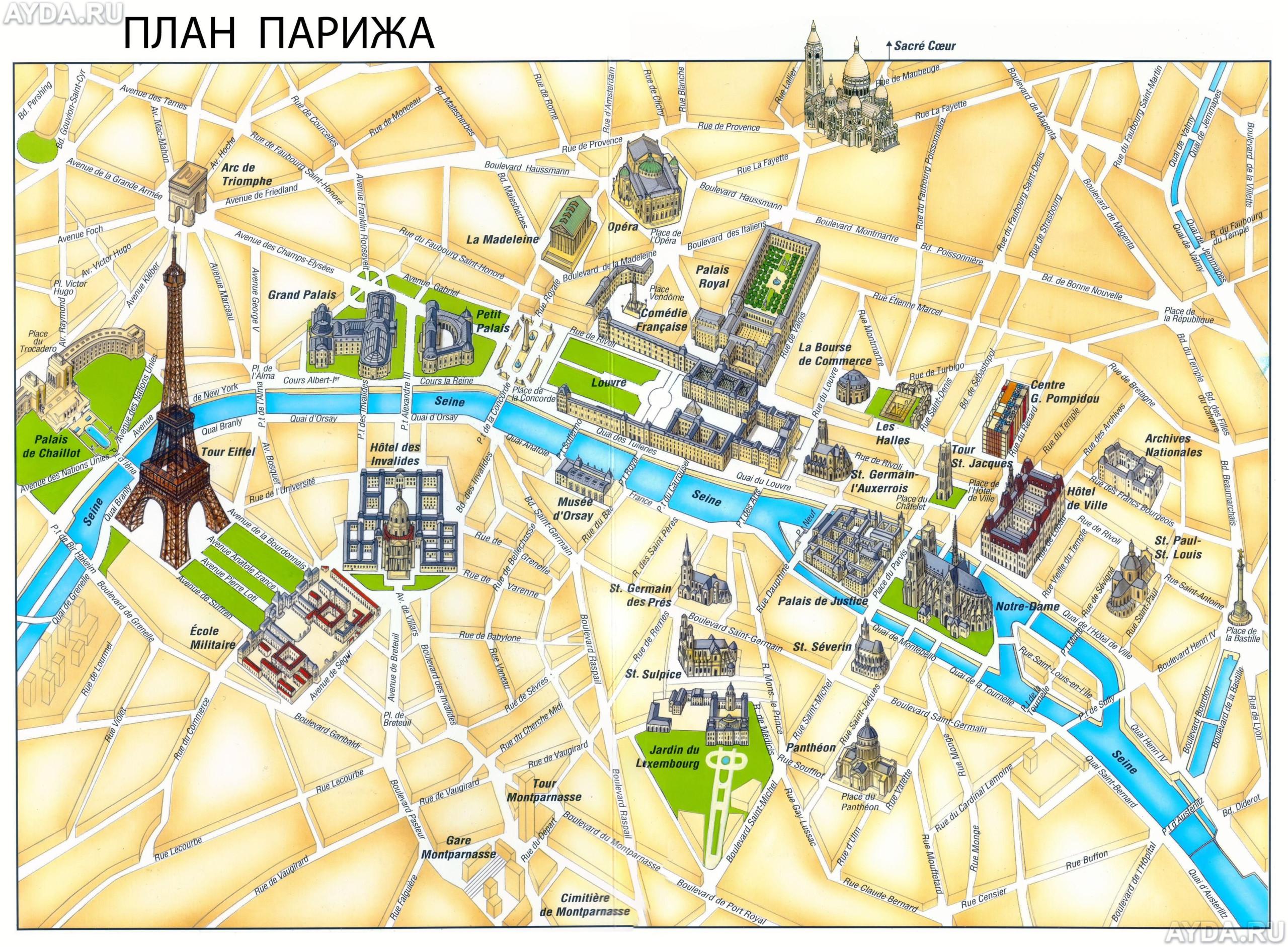 Map Of Paris Landmarks Be society me Paris Tourist