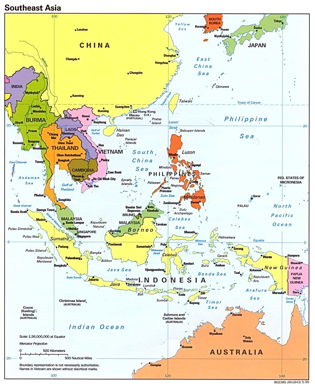 Map Of Southeast Asia Region Maps Of Asia Regional