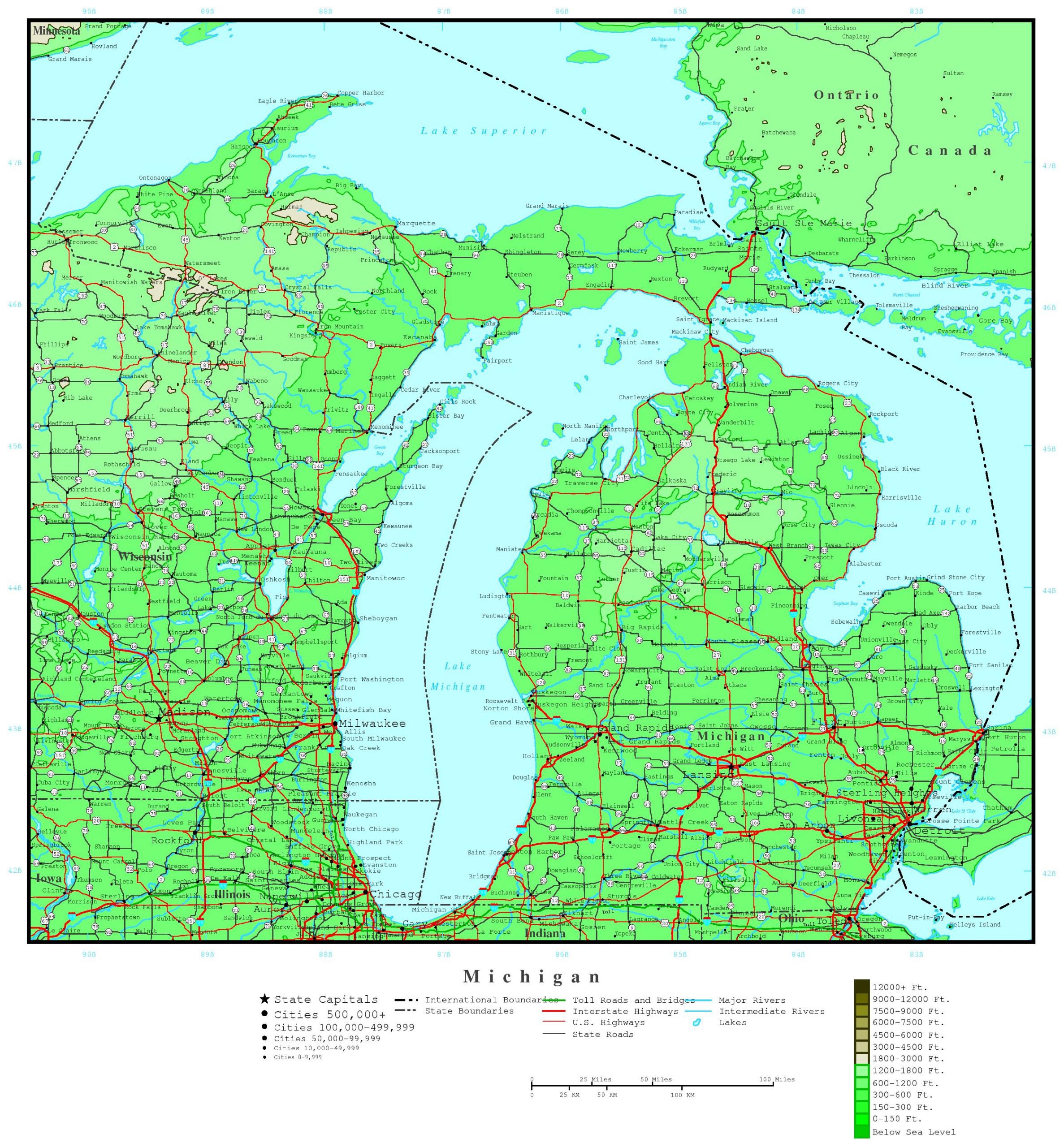 Michigan Printable Map Printable Upper Peninsula Map