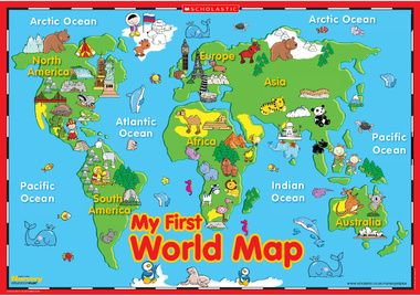 My First World Map Poster Maps For Kids Kids World