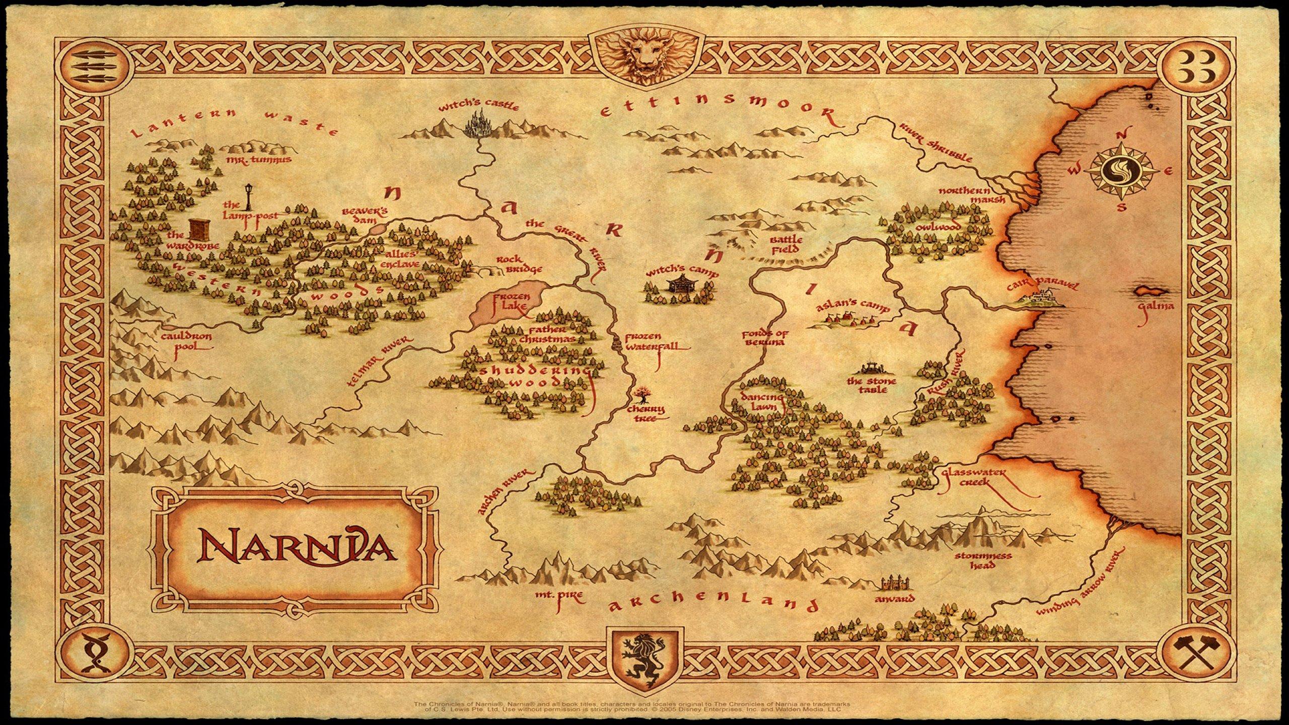 Narnia Map Wallpaper 2560x1440 395548 WallpaperUP