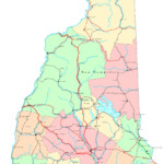 New Hampshire Printable Map