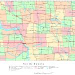 North Dakota Printable Map