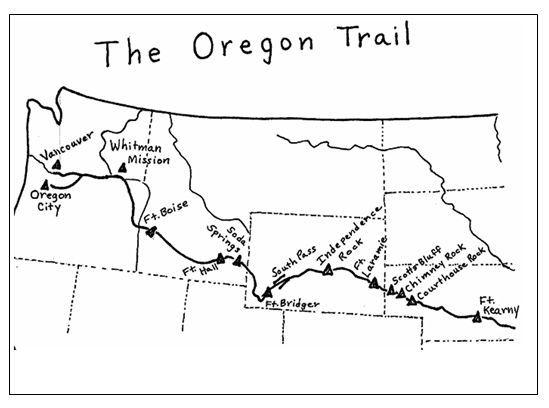 Oregon Trail Map Printable Oregon Trail Learn
