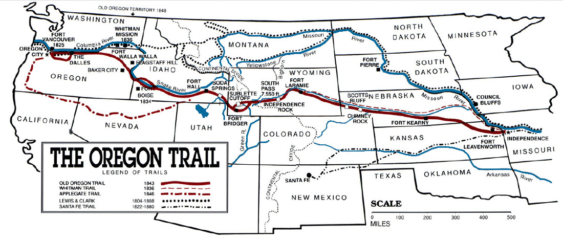 Oregon Trail Pathway To The West History And Information
