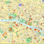 Paris City Centre Map With Tourist Attractions And
