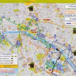 Paris Map Tourist Attractions