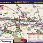 Paris Red Bus Tour Map Red Bus Paris Route Map le de