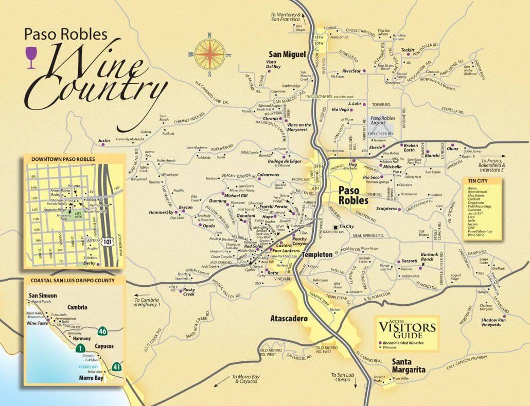 Paso Robles Wine Maps California Winery Advisor