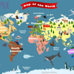 Personalized Laminated World Map For Kids Let s By