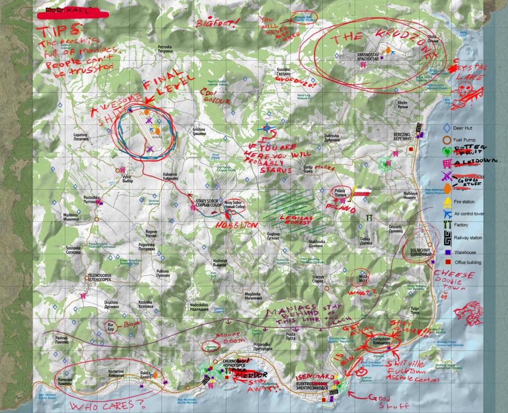 Printable Dayz Standalone Map Printable Maps