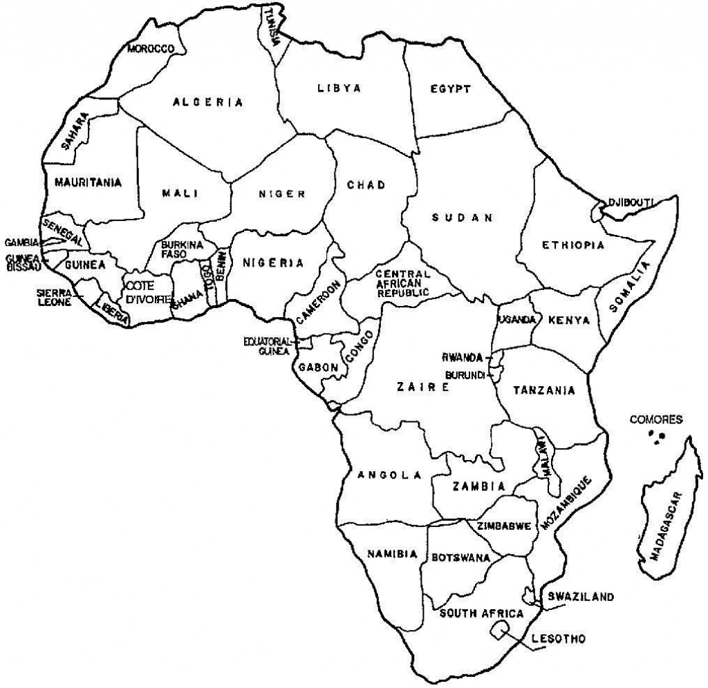 Printable Map Of Africa With Countries Labeled Printable
