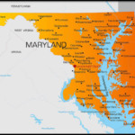 Printable Map Of Maryland And More