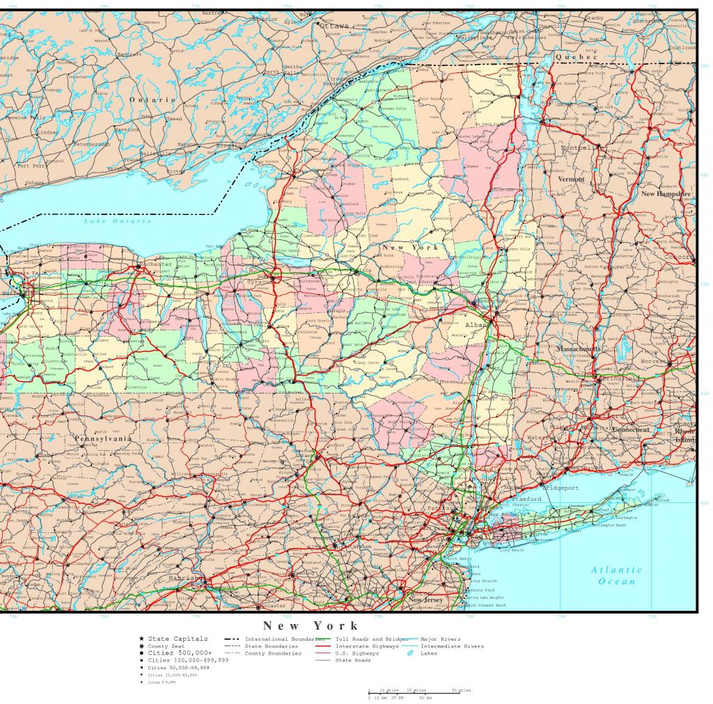 Printable Map Of New York State Printable Maps