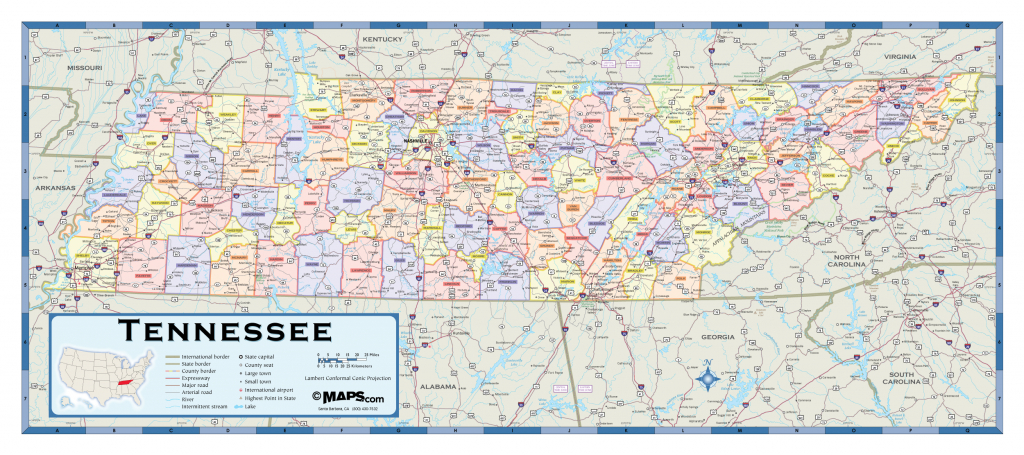 Printable Map Of Tennessee Counties And Cities Printable