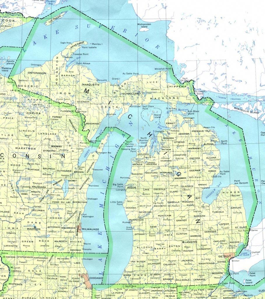Printable Map Of Upper Peninsula Michigan Free Printable