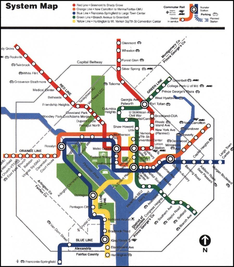 Printable Metro Map Of Washington Dc Printable Maps