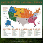 PRINTABLE National Parks Map 14x11 Poster US Etsy