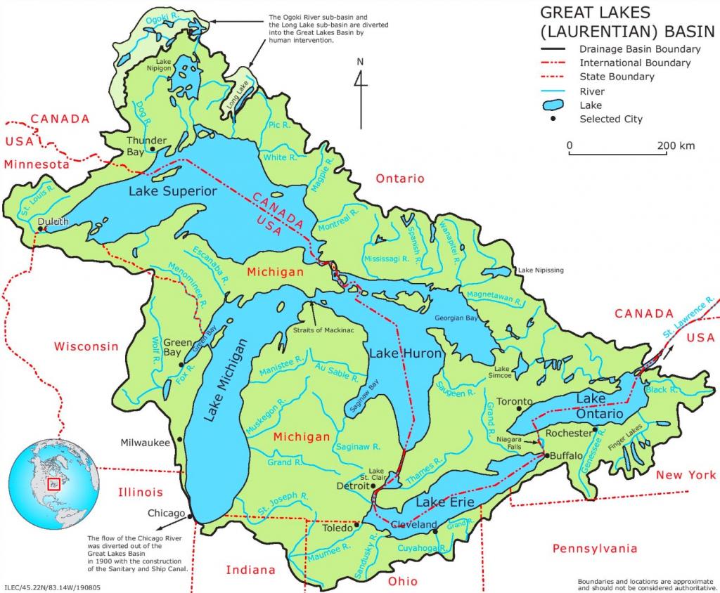 Printable Us Map With Great Lakes Printable US Maps