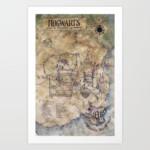 Printable White Marauders Map Pdf Hogwarts Map Printable