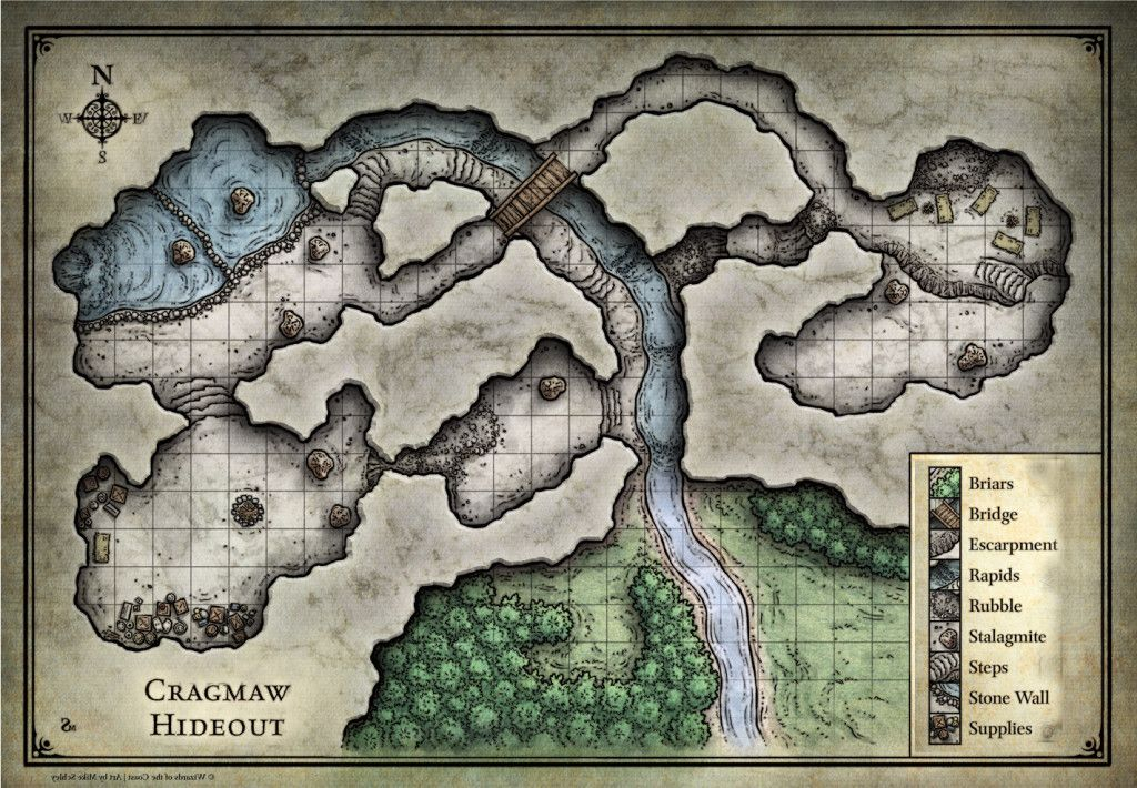Reversed Map Of Cragmar Hideout For Phandalen For 5th