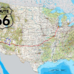 Road Route 66 USA Highway Map North America Canada