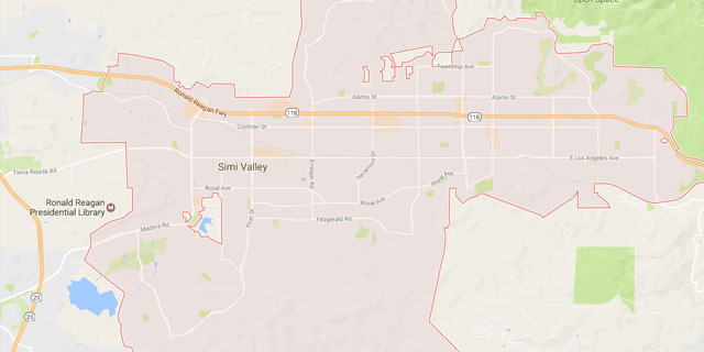 Small Map Of Simi Valley Ca Weinstein Construction