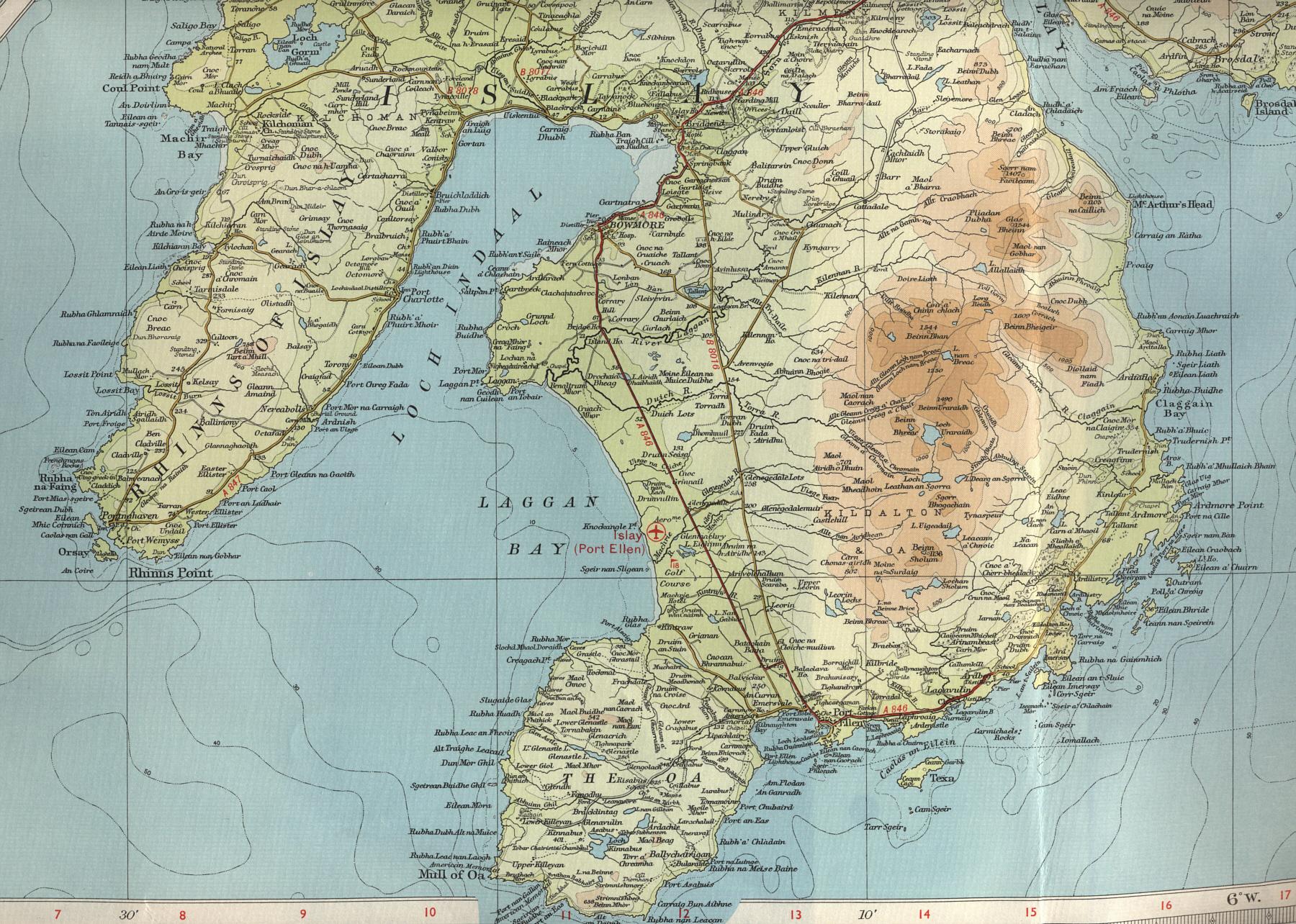 South Islay Map